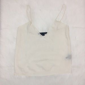 Ralph Lauren 100% Silk White V-Neck Tank Cami